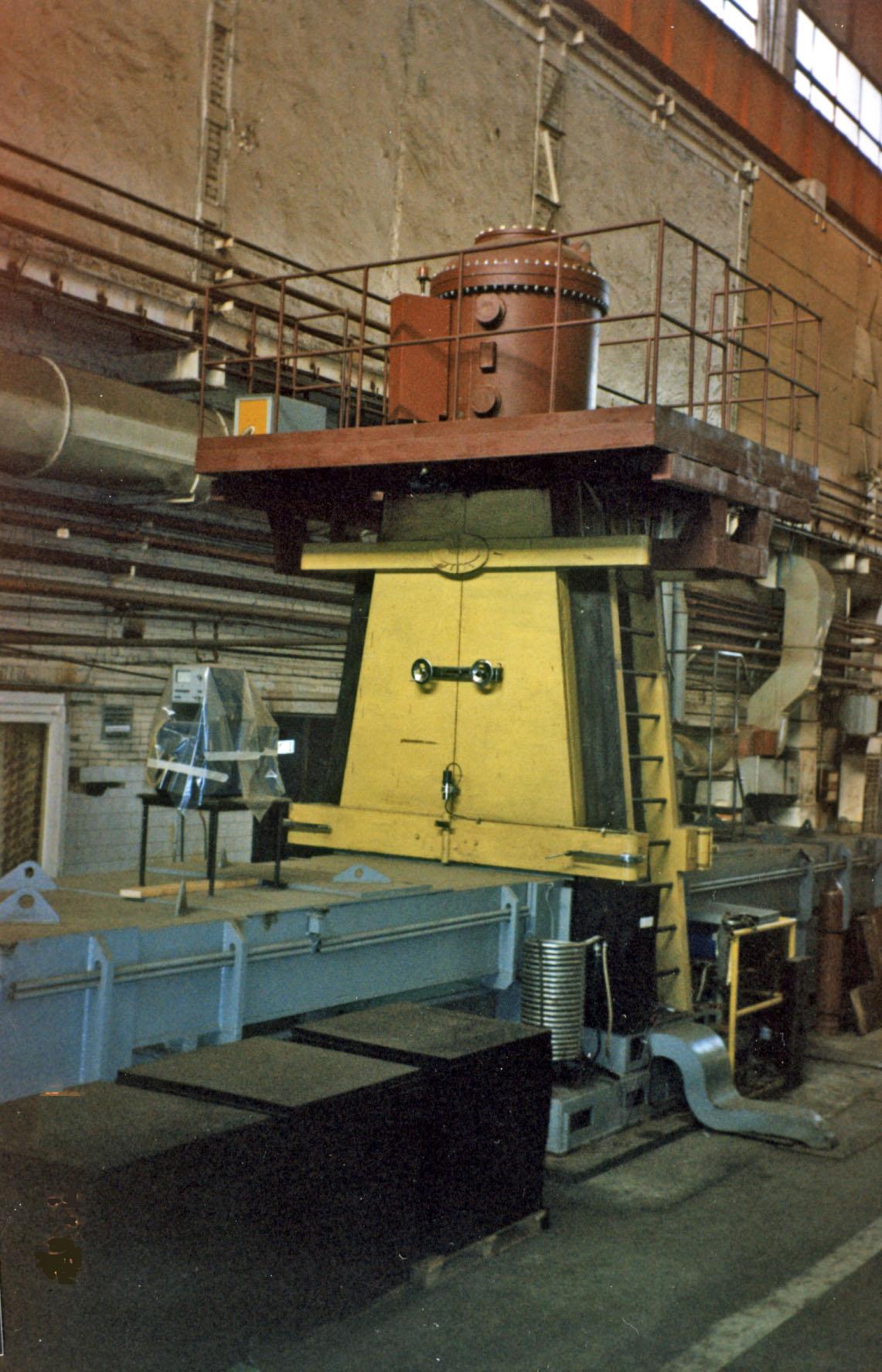 Ускоритель «Электрон-3М-2» в установке обработки покрытий на судостроительном заводе