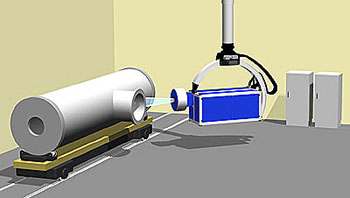Schematic of the radiographic system