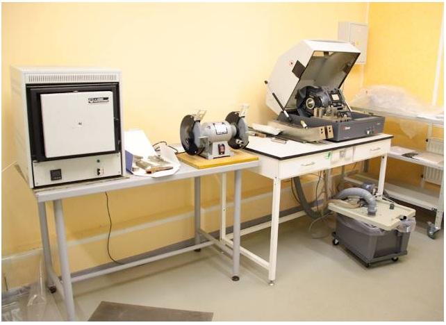 Участок подготовки образцов для исследований