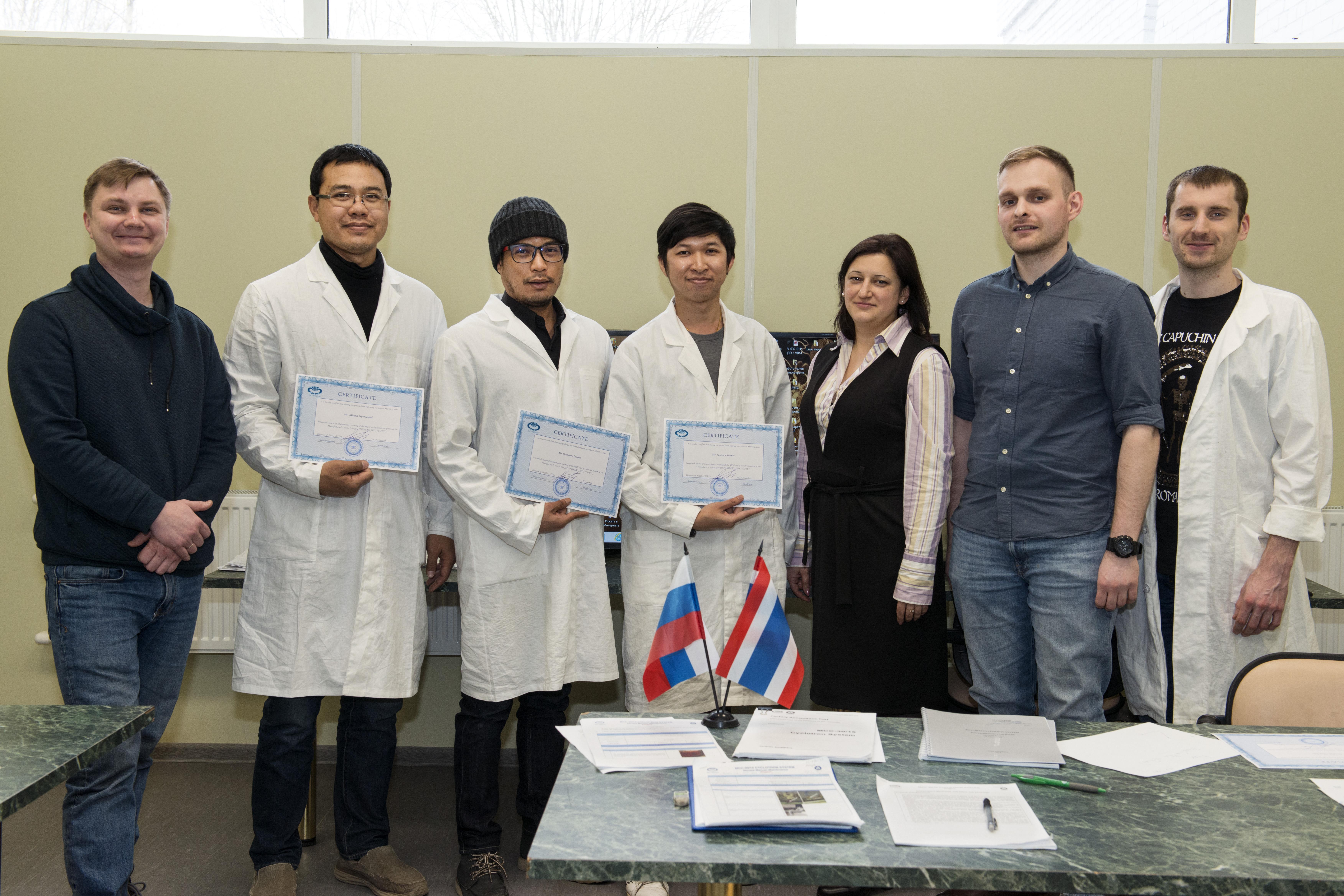 Специалисты научных центров королевства Таиланд прошли обучение техническому обслуживанию циклотронного комплекса, изготовленного в АО «НИИЭФА»